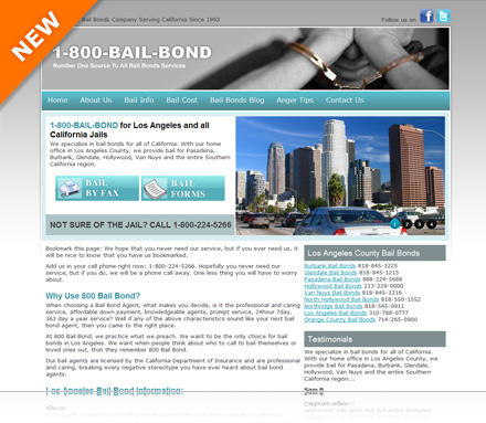 Welcome to our newly constructed website:  www.my1800bailbond.com